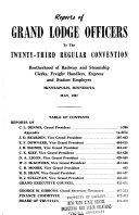 Report of     Grand President to the     Regular Convention