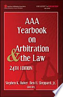 AAA Yearbook on Arbitration and the Law   24th Edition Book