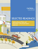 Markets for Good Selected Readings  Making Sense of Data and Information in the Social Sector