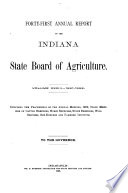 Annual Report Of The Indiana State Board Of Agriculture Book PDF