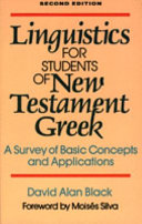 Linguistics for Students of New Testament Greek Book