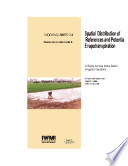 Spatial distribution of reference and potential evapotranspiration across the Indus Basin Irrigation Systems