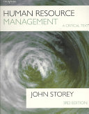 Human Resource Management: A Critical Text