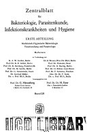 Abstracts of microbiology and hygiene