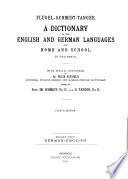 Fl  gel Schmidt Tanger W  rterbuch der englischen und deutschen Sprache  Bd  Deutsch englisch