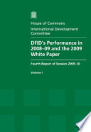 DFID's performance in 2008-09 and the 2009 White Paper