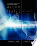 Student Solutions Manual and Study Guide for Numerical Analysis