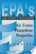 EPA'S Clean Air Act Air Toxics Database