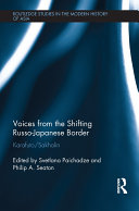 Pdf Voices from the Shifting Russo-Japanese Border