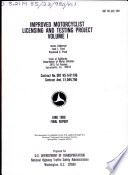 Improved Motorcyclist Licensing and Testing Project Book