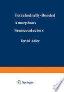 Tetrahedrally Bonded Amorphous Semiconductors Book PDF