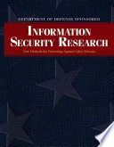 Department of Defense Sponsored Information Security Research Book