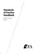 Standards of Practice Handbook Book