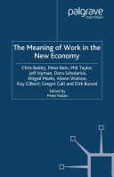 The Meaning of Work in the New Economy