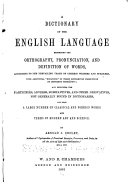 Dictionary of English Language Exhibiting Orthography  Pronunciation and Definition of Words