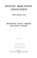 Proceedings Annual Meeting and Annual Banquet     Year