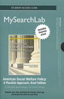 American Social Welfare Policy Mysearchlab Standalone Access Card Book PDF