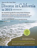 How to Do Your Own Divorce in California in 2013