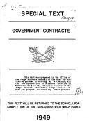 Special Text  Government Contracts