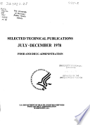 Selected technical publications