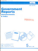 Government Reports Announcements   Index Book