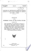 Violation of Restraining Order of Federal Court by United Mine Workers of America and John L. Lewis