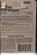 Philippine Studies Newsletter