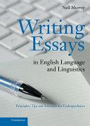 Writing Essays in English Language and Linguistics