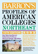 Profiles of American Colleges  Northeast Book