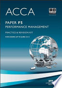 ACCA Paper F5 - Performance Mgt Practice and revision kit