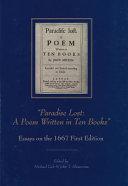 Paradise Lost   A Poem Written in Ten Books