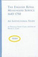 The English Royal Messengers Service  1685 1750 Book