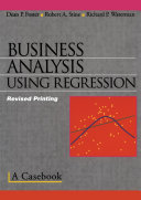 Business Analysis Using Regression