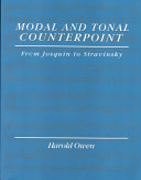 Modal and Tonal Counterpoint Book PDF