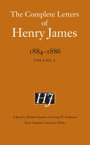 The Complete Letters of Henry James  1884 1886