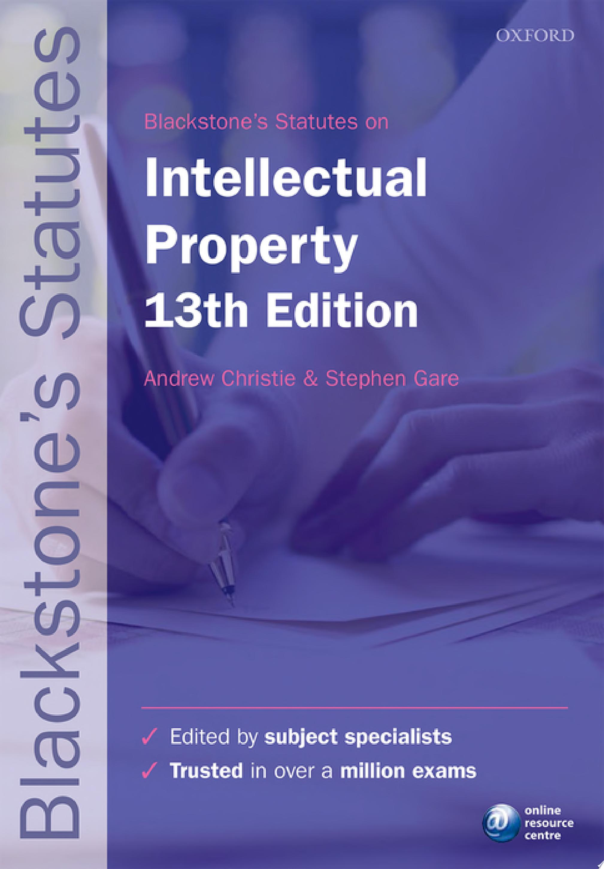 Blackstone s Statutes on Intellectual Property