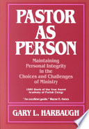 Pastor as Person by Gary L. Harbaugh PDF