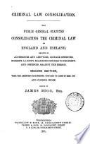 Criminal Law Consolidation