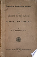 The descent of the manors of Pirton and Haseley