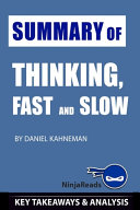Summary of Thinking  Fast and Slow Book