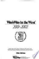Who's who in the West  : A Biographical Dictionary of Noteworthy Men and Women of the Pacific Coast and the Western States