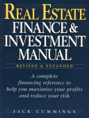 Real Estate Finance   Investment Manual