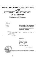 Food Security  Nutrition and Poverty Alleviation in Ethiopia Book