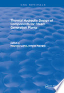 Thermal Hydraulic Design of Components for Steam Generation Plants