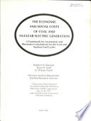 The Economic and Social Costs of Coal and Nuclear Electric Generation Book
