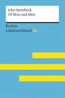 Of Mice and Men von John Steinbeck  Reclam Lekt  reschl  ssel XL