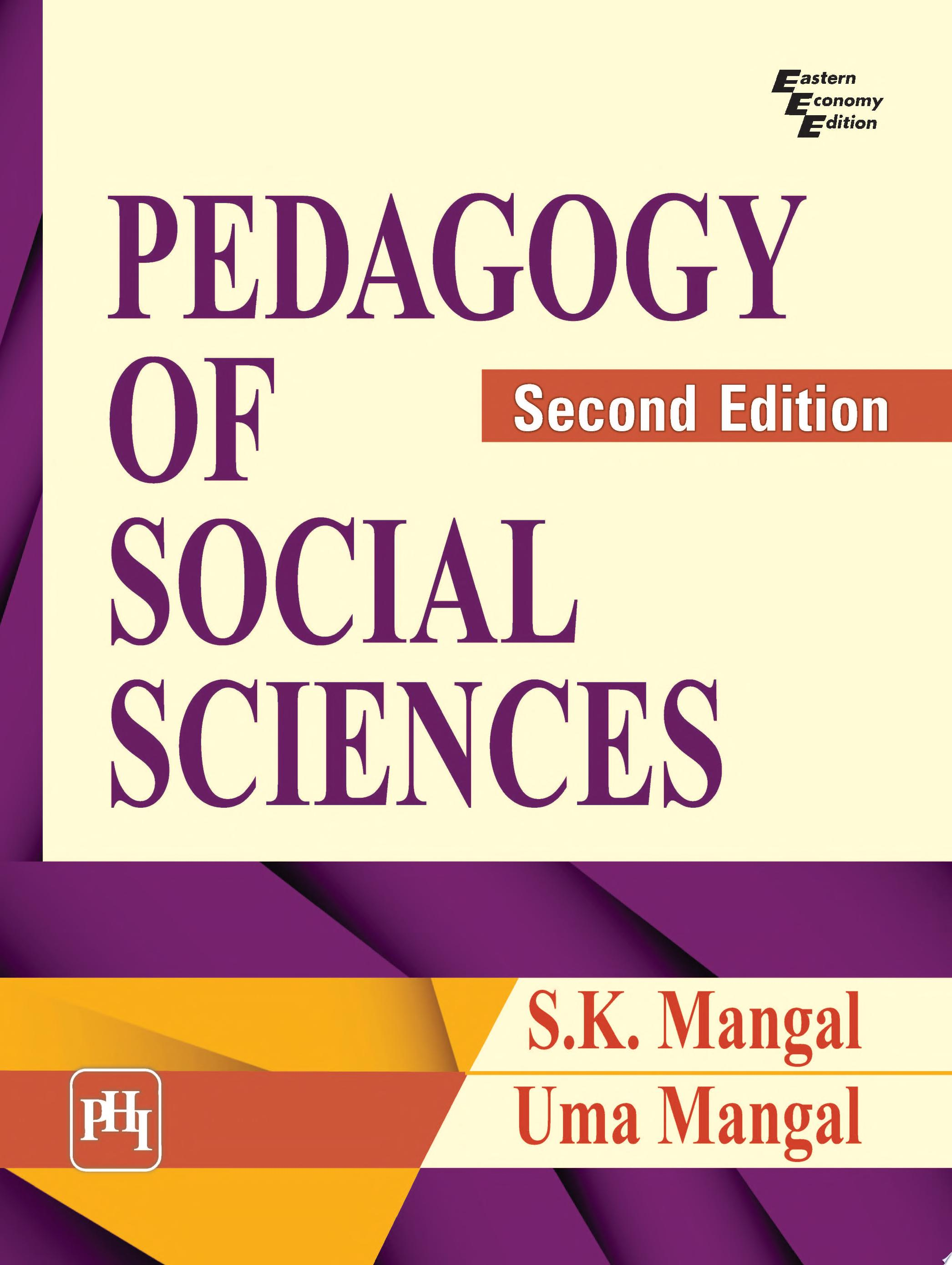 PEDAGOGY OF SOCIAL SCIENCES