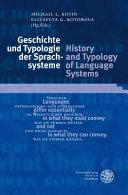 Geschichte und Typologie der Sprachsysteme