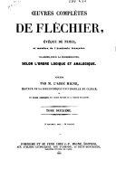 Oeuvres complètes de Fléchier ...