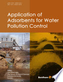 Application of Adsorbents for Water Pollution Control Book